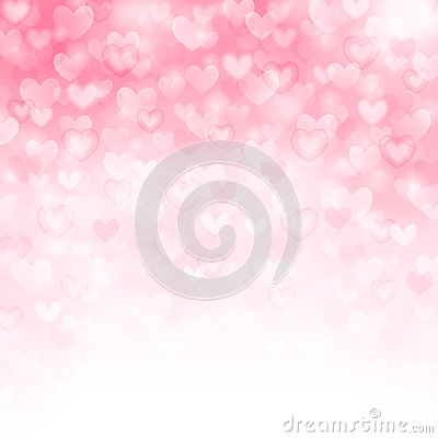 Free Vector Background With Beautiful Pink Hearts Stock Photos - 29001173