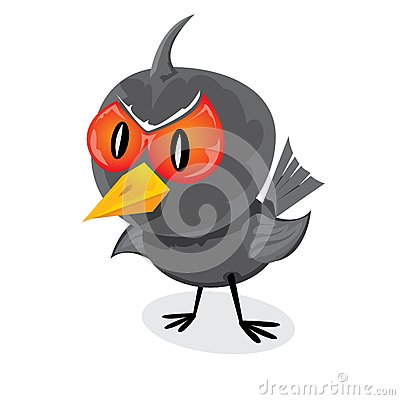 Free Vector Bad Angry Black Raven Bird. Stock Image - 36042721