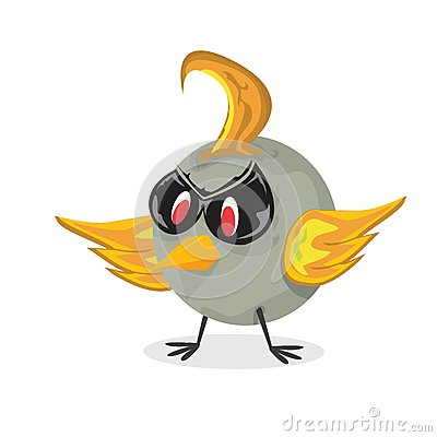 Free Vector Bad Bird. Funny Bird Character Stock Photos - 36042743