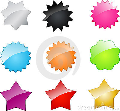 Vector badges and stars for your design