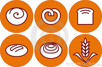 Vector bakery products illustration - pastry and b