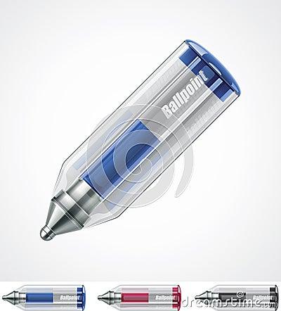 Vector ballpoint pen icon