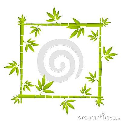 Vector bamboo funny frame