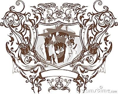 Vector bandit emblem
