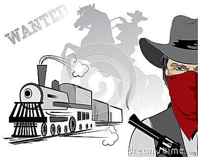 Vector bandit in mask.Cowboy