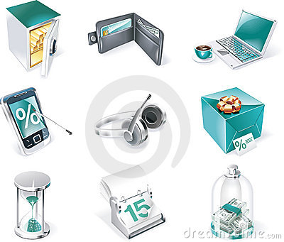 Vector banking icon set. Part 1