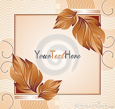 Vector banner with leafs