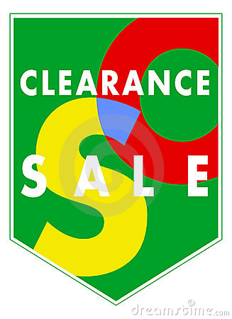 Vector banner - Sales clearance