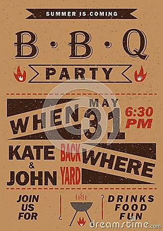 vector barbecue party invitation bbq template menu design food