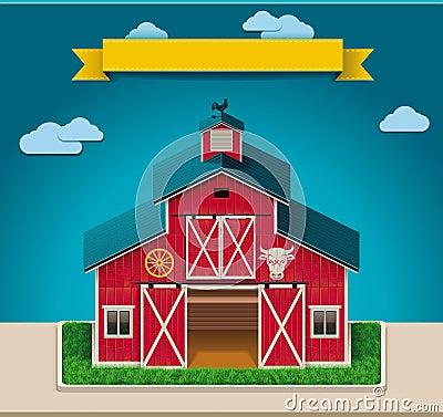Vector Barn Xxl Icon Cartoon Vector Cartoondealer Com