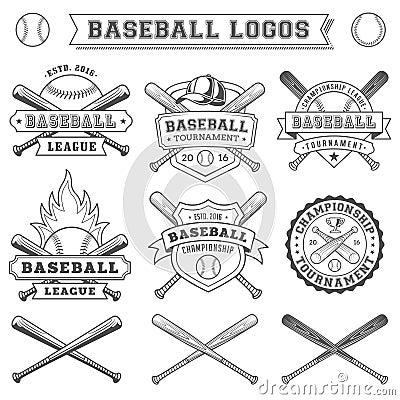 Vector Baseball logo and insignia Vector Illustration