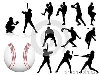 Vector Baseball Players