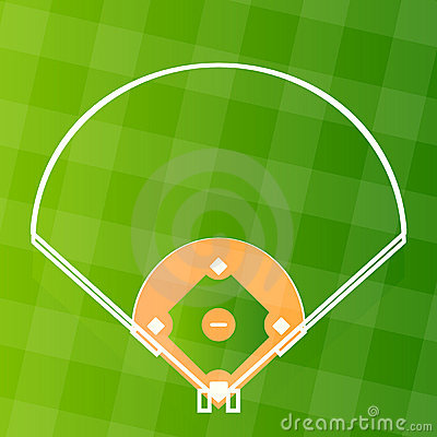 Free Vector Baseball Regular Field Royalty Free Stock Photography - 12603547