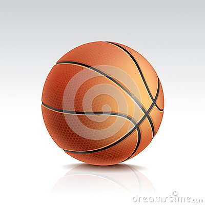 Vector  Basketball Ball on White