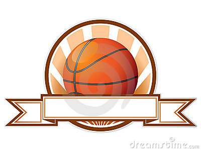 Vector basketball emblem