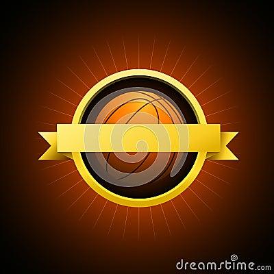 Vector Basketball emblem