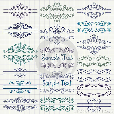 Free Vector BColorful Pen Drawing Dividers, Frames Stock Photos - 53390603