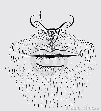 Vector beard of man