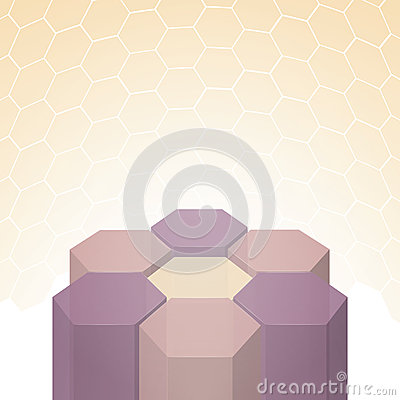 Vector beautiful 3D polygon flower background