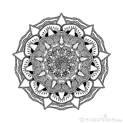 Beautiful Mandala Black And White Pattern For Design Painting