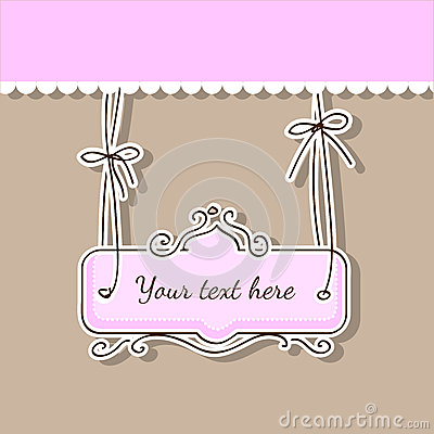 Vector beauty pink background