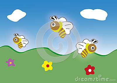 Vector bee icon. cartoon cute Cartoon Illustration