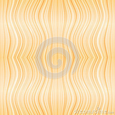 Vector beige wooden or hair waves seamless pattern