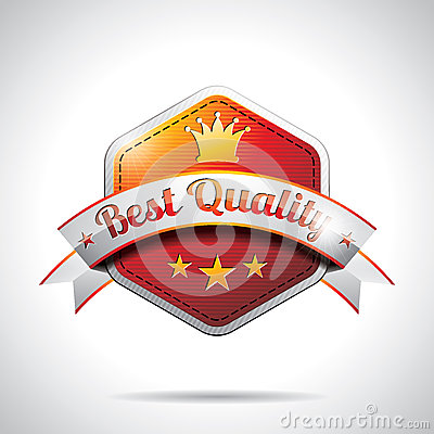 Vector Best Quality Labels Illustration with shiny styled design