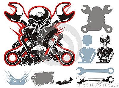 Vector bikers simbols set
