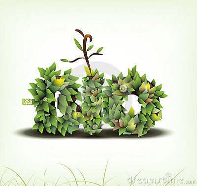 Vector. Bio concept design eco friendly