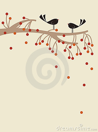Free Vector Bird And Tree Royalty Free Stock Images - 9269799