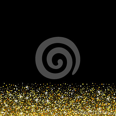 Vector Black Background With Gold Glitter Sparkle Stock Vector - Image ...