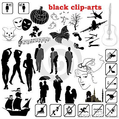 Vector black clip-arts