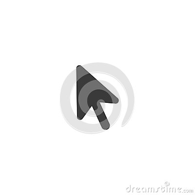 Free Vector Black Computer Mouse Arrow Icon With Flat Design Style Stock Images - 95723094