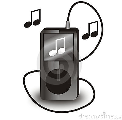 Vector black ipod