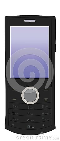 Vector black mobile phone