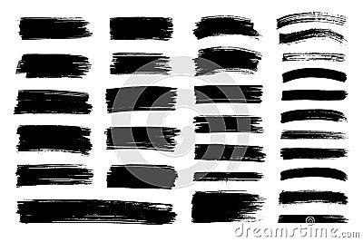 Vector black paint, ink brush stroke, texture. Vector Illustration