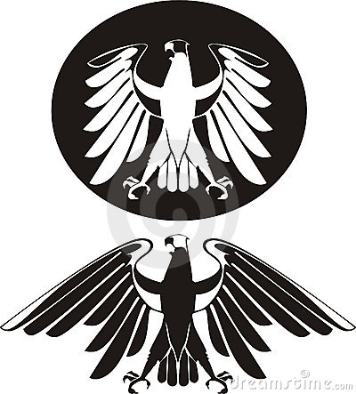 Vector black & white eagle