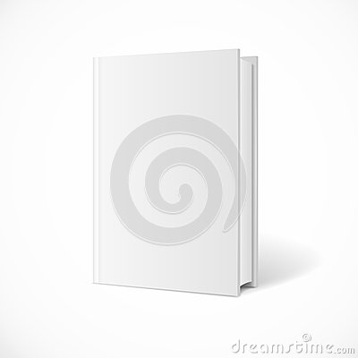 Vector blank book cover perspective