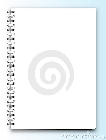 Vector blank notebook isolated on white