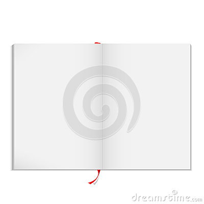 Vector blank open magazine