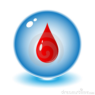Free Vector Blood Drop Icon Royalty Free Stock Images - 7466819