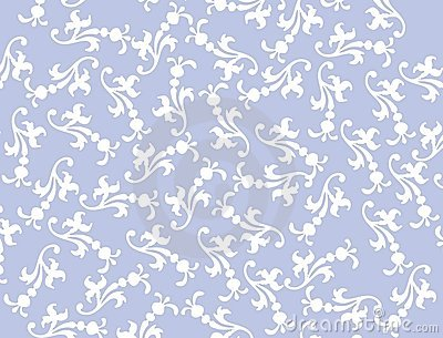 Vector Blue Filigree Background