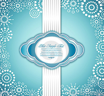 Vector blue holiday greeting background