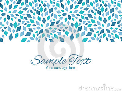 vector blue mosaic texture horizontal border stock vector