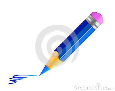 Vector blue pencil