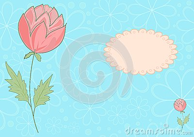 The vector blue and pink flower picrure