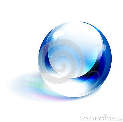 Vector blue shiny sphere