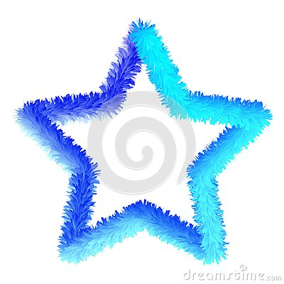 Vector blue star Stock Photo
