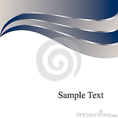 Vector Blue Swirls Background